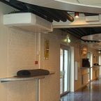 Schools equipped with DECO fan coils suspended from the ceiling