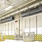 Climate separation by Biddle IndAC2 Industrial air curtains