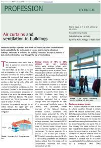 Air curtains and ventilation in buildings